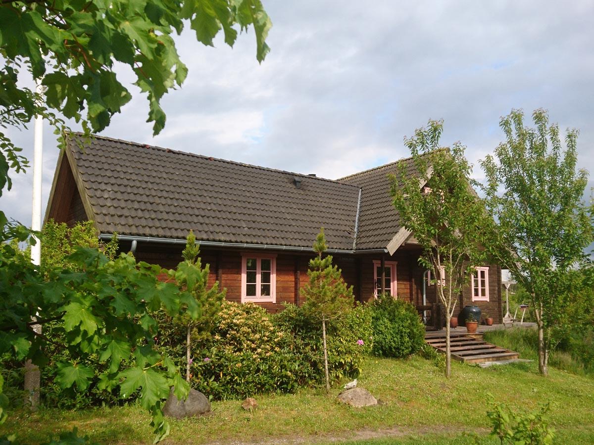 Himmerlandsbyen 15, bjælkehus med træuldisolering