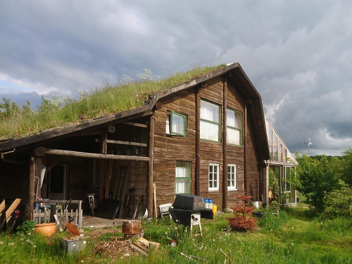 Himmerlandsbyen 9, timberframe af lokalt grantræ